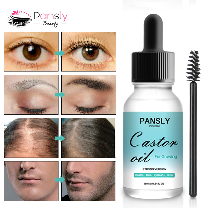 Organic Castor Oil for Eyelash Beard Hair Growth Enhancer Nourishing Oil H7JP 5