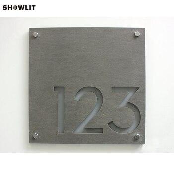 Laser Cut Custom Made House Numbers Door Plates