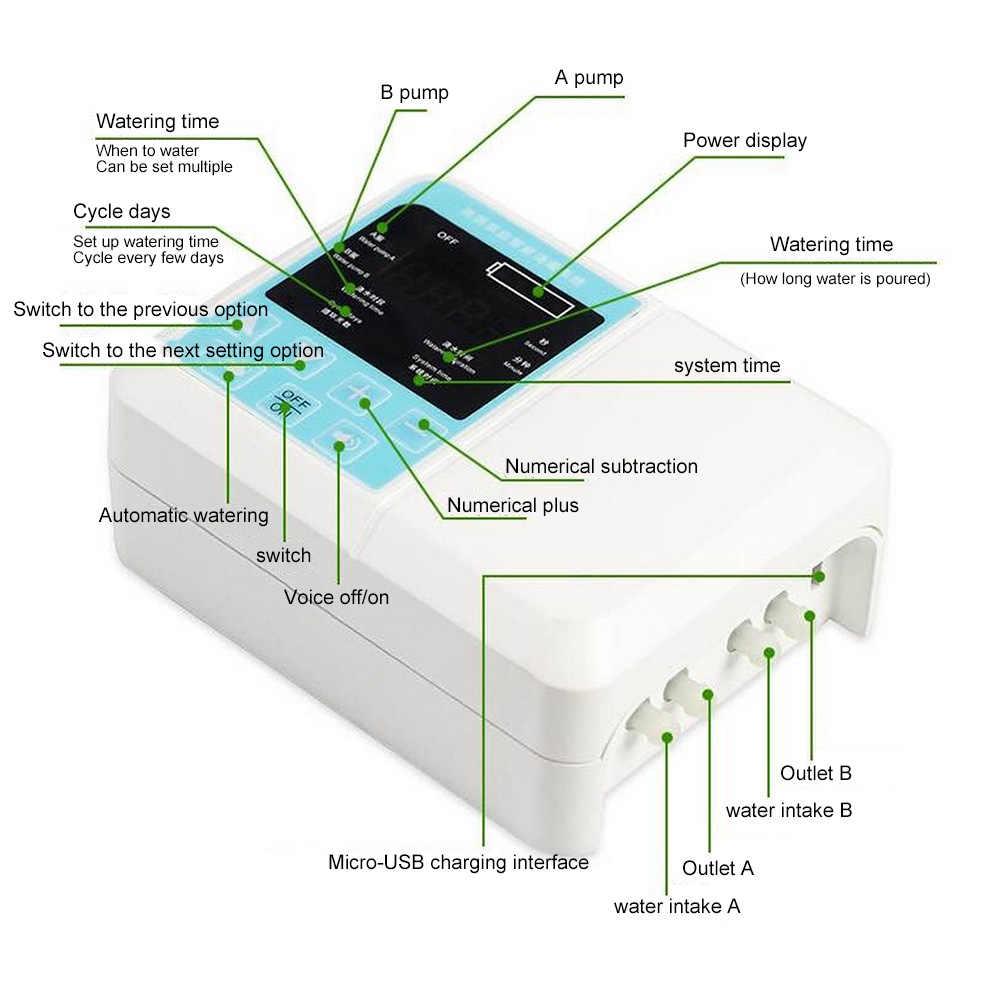 אינטליגנטי מים משאבת שמש גינה השקיה אוטומטית מכשיר אנרגיה סולארית טעינת טיימר מערכת עציץ השקיה בטפטוף