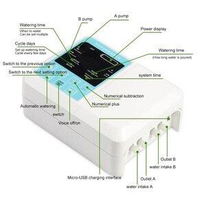 Image 4 - Tropf Bewässerung Solar Bewässerung System Energie Drei Outlets Timed Automatische Bewässerung Gerät Anlage Miniatur Membran Pumpe