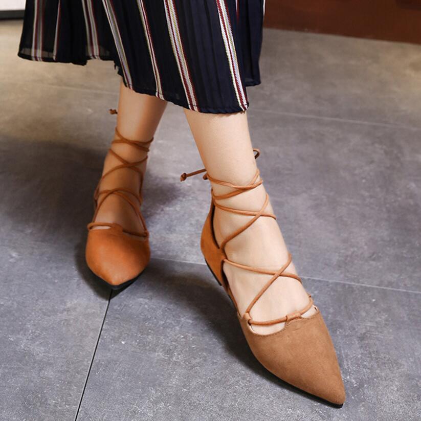roma shoes woman cross tied flats