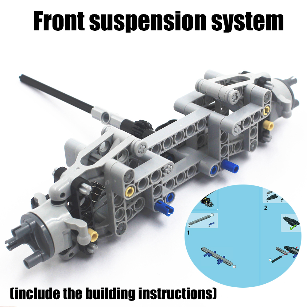 MOC Technic Parts 78pcs Front Suspension System Compatible With Lego For Kids Boys Toy NOC-TSMA78