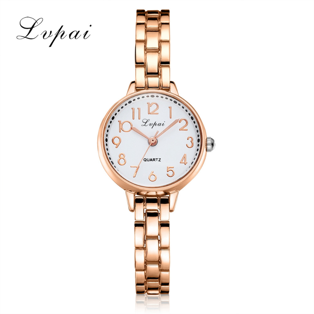 Lvpai Brand New Women Bracelet Watches Fashion Casual Quartz Ladies Wrist Watches Luxury Women Rose Dress Watches