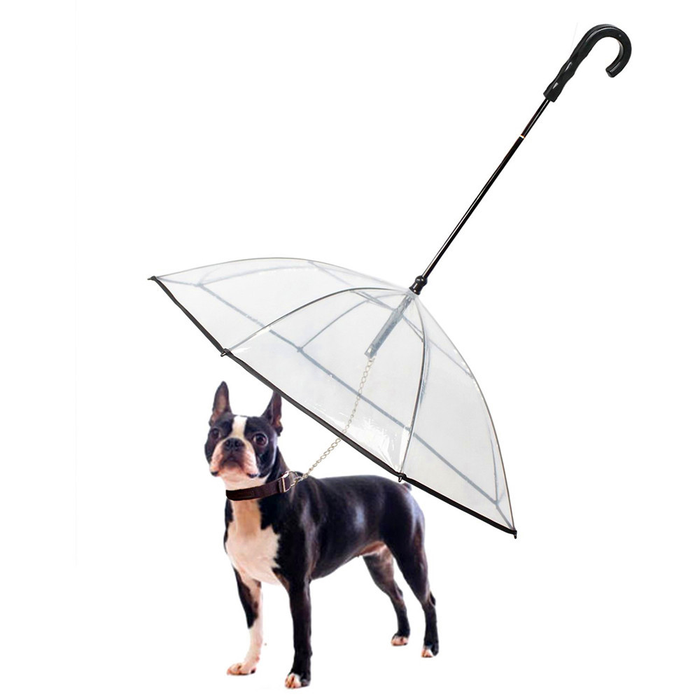 Pet Dog Umbrella Pet Umbrella With Dog Leash Pet Mini Umbrella High Quality With Dog Collar Chain For Dog Traction Anti-Lost