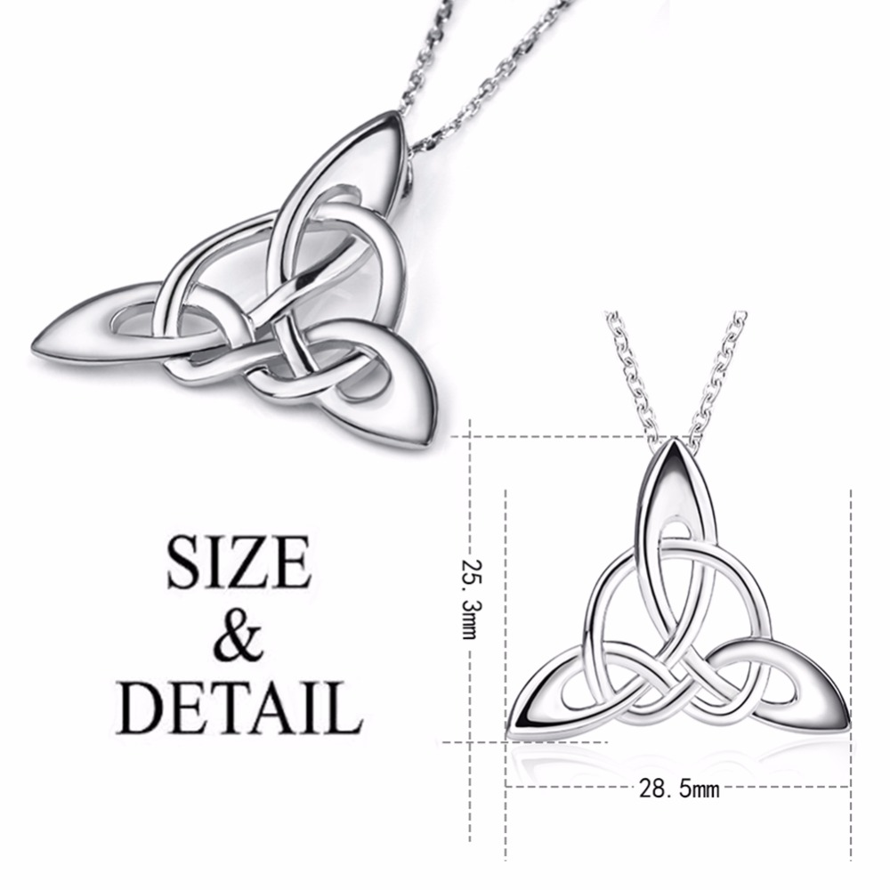 Mothers Days Silver Brand Accessories Necklaces For Irish Celtic Knot Triangle Vinta Custom 925 Silver Jewelry Chain Necklaces