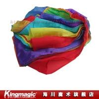 Rainbow Silk Streamer (45CM*1000CM) Silk Fountain Waterfall Silk Magic Ultra thin silk scarf magic props magia