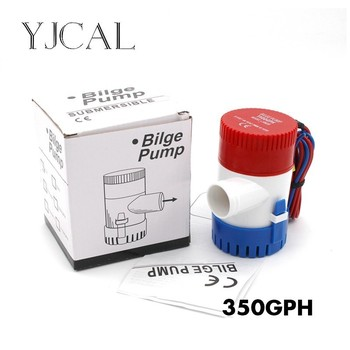 Bilge Pump 350GPH DC 12V 24V Submersible Electric Water Pump For Seaplane Civil Ship Houseboat Boats submersible electric water pump 1500gph dc 12v 24v bilge pump and level controller float switch combination for boats
