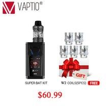 Vape kit e cigarette 220W VAPTIO SUPER BAT 220W Box MOD Electronic 0.1ohm to 5.0ohm 510 thread Vape Mod FOR SMOK TFV12/tfv8 tank