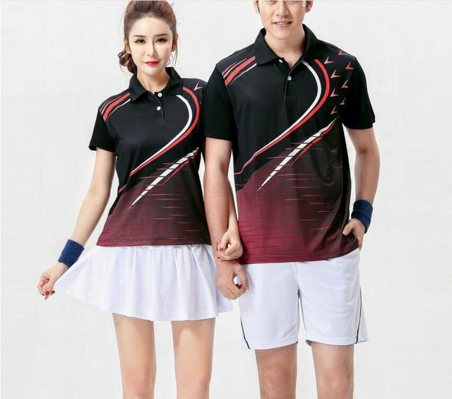 premium selection 64d8d 93ec6 US $21.15 6% OFF|New 2018 badminton sportwear t shirts,Polyester quick  drying Table tennis shorts,tennis sport shirt jersey,sport Training suit-in  ...