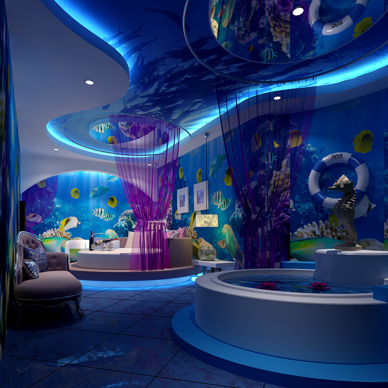 3D Photo Wallpaper 3D Large Mural Dolphin Children's Room