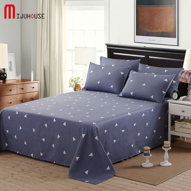 100 cotton flat sheets king size geometric printed 100 cotton queen size twin bed - Twin Bed Sheets