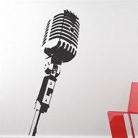 E45 Wall Vinyl Sticker Decals Mural Room Design MICROPHONE Music Studio Wall Stickers Home Decor Diy