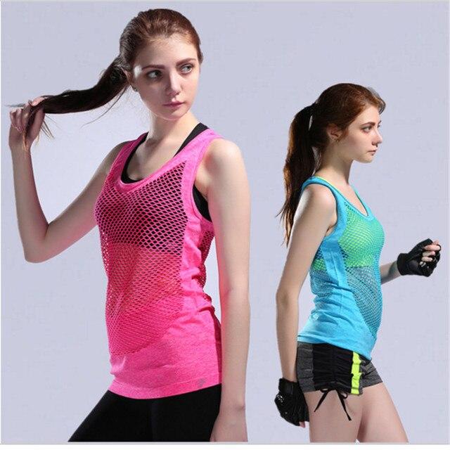 Novedad Camiseta deportiva de malla fitness gimnasio atletismo camisetas de secado  rápido transpirable chaleco deportivo chalecos 1f9460a66167