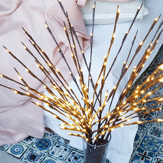 LED Willow Branch Lamp Floral Lights 20 Bulbs Home Party Garden Decor Christmas Birthday Gift gifts Desktop Decoration Lights 4