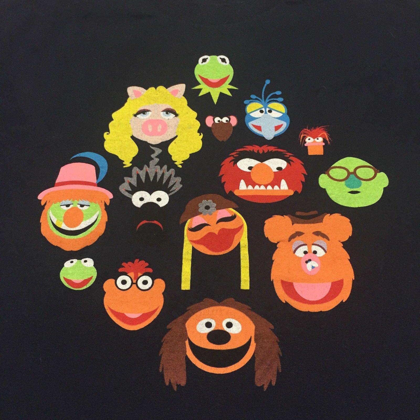 Detail Feedback Questions About Muppets Small Black T Shirt Sesame Street Puppet Kermit Fozzie Animal Gonzo Cartoon T Shirt Men Unisex New Fashion Tshirt On