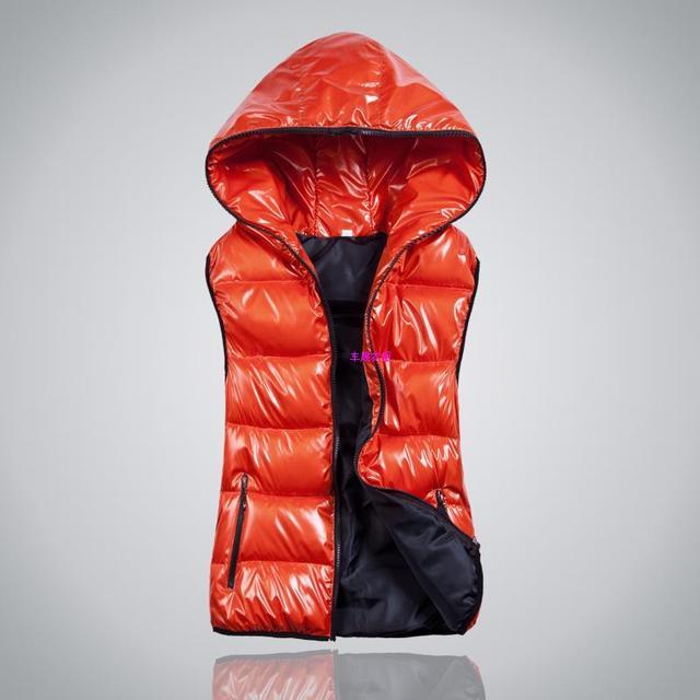 Woman autumn Plus Size Cardigan Hooded Glossy Thick Down Waistcoat Female Winter waterproof Warm Down Vest Lady Down Jacket