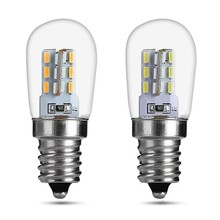 LED Light Bulb E12 2W High Bright Glass Shade Lamp Pure Warm White Lighting For Sewing Machine Refrigerator