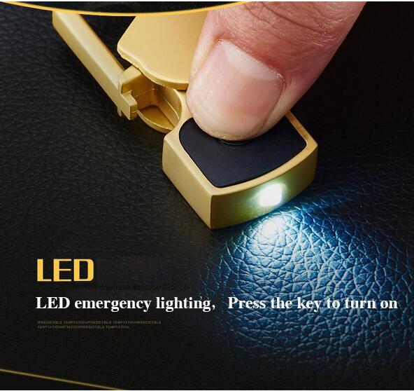 Llavero de lujo Con Abrebotellas Luces LED Llavero doble Llavero de - Accesorios de interior de coche - foto 3