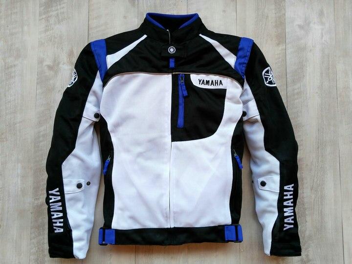 2018 veste de course de moto pour Yamaha noir et blanc veste de course Autombile vêtements de course vêtements de moto