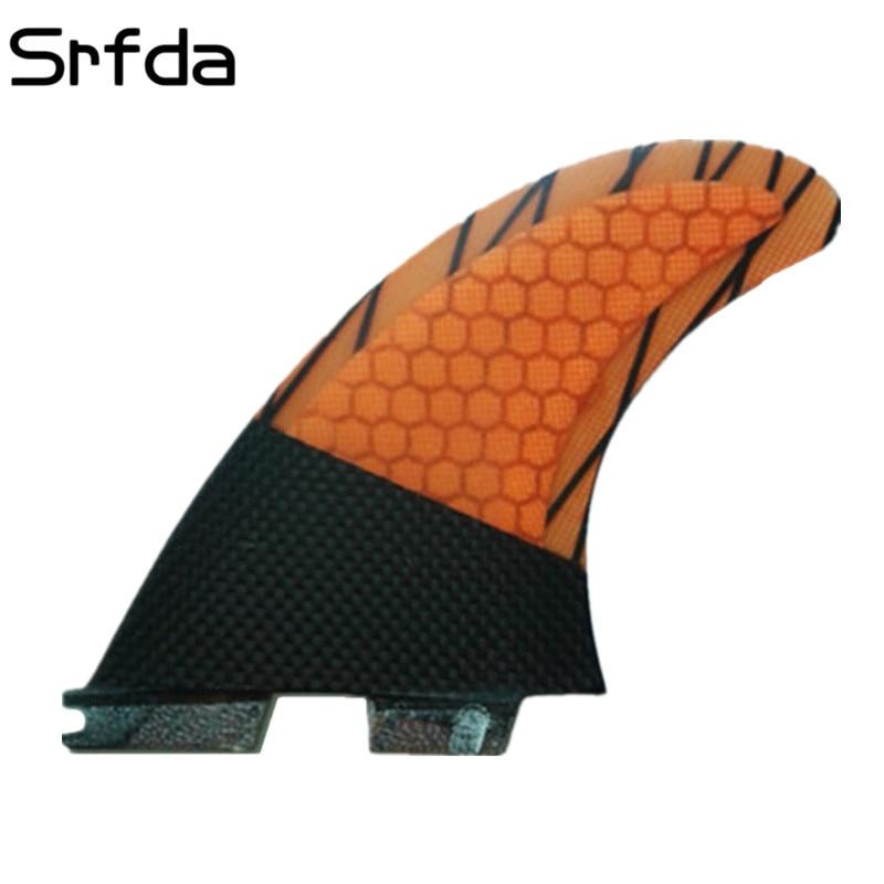 srfda Darmowa wysyłka Wysokiej jakości płetwy surfingowe płetwy surfingowe FCS II G5 z włókna szklanego miodu materiał grzebień do surfowania 003 ROZMIAR M