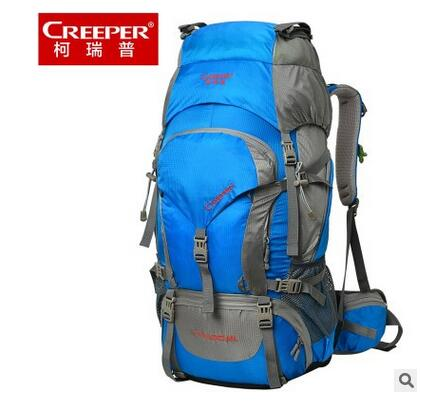 ФОТО 2016 New CREEPER 60L Mountaineering Backpack Men mountain pack bag 60L waterproof Travel Bag Climbing Bag 60L Rucksacks camping