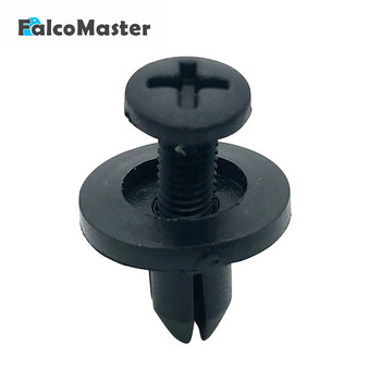 50pcs Universal Vehicle Plastic Rivets 6mm Black Car Bumper Fender Retainer Fastener Push Clips Pin Screw buckle image