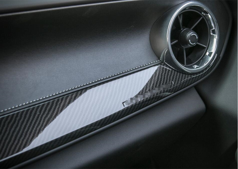 Carbon Fiber Style For Chevrolet Camaro 2016 2017 ABS Car Styling Central Middle Panel Frame Cover Trim 1 Pcs qhcp carbon fiber car styling door handle cover sticker trim frame for chevrolet camaro 2016 exterior accessories free shipping