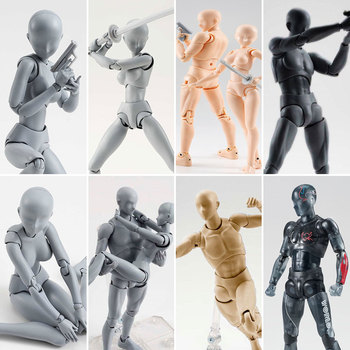 15cm Anime Archetype He She Ferrite Figma Movable BODY KUN BODY CHAN PVC Action Figure Doll for Collectible Model Toys