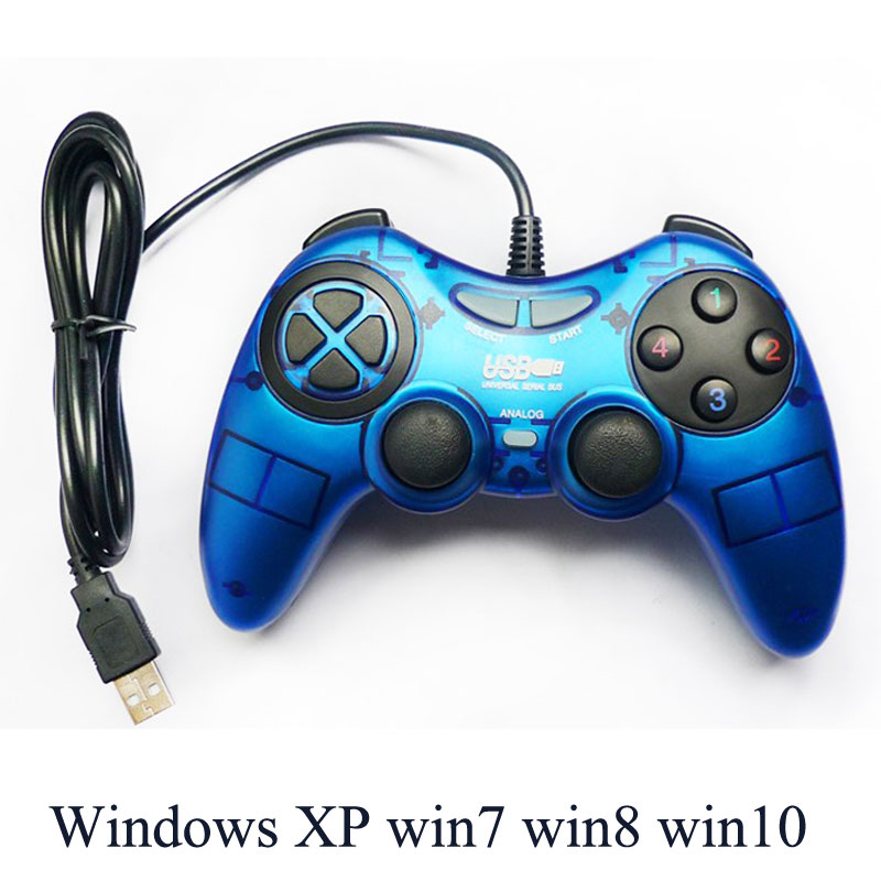Computer USB wired gamepad PC game controller with vibration and ...