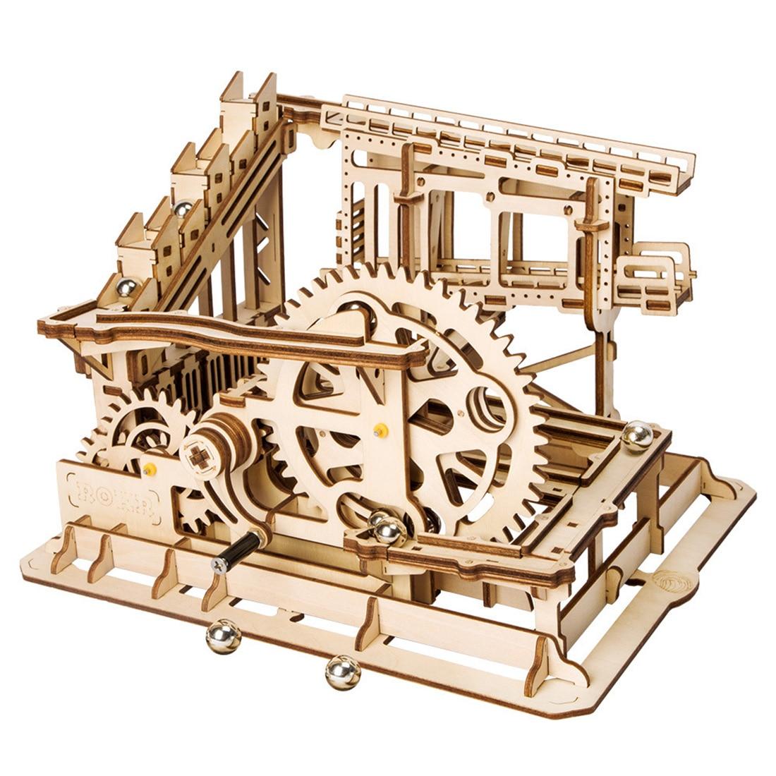 Rowsfire 1 Ensemble 3D bricolage Assemblé maison de poupée en bois Série Vapeur Tige Jouets Marble Run Modèle Kits de Construction-Tour Coaster LG502