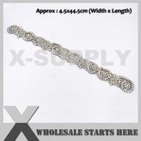 New Bridal Crystal Rhinestone Applique Iron On Beaded Patch,For Headband,Sash Belt,X1 RAT2432