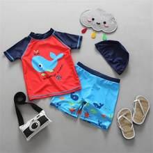 ca13ce3f2c5 Newest Kids Swimsuit Boys Baby Anti UV Children Swimwear Two-pieces Bath  Suit Infant Lovely