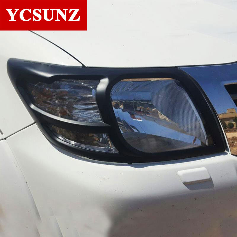 Car Accessories ABS Headlight Cover For Toyota Hilux Vigo 2012 2013 2014-in Lamp Hoods from Automobiles & Motorcycles    1