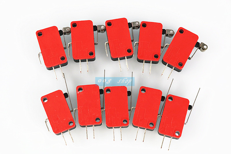 10Pcs Lever Arm Micro Switches Microswitch 15A AC 250V цена