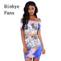 Binbye Hayranları Iki Parçalı Bodycon Elbise Ucuz Giysiler Çin Vestido Slash Boyun Mini Elbise Öz Portre Kadın Seksi Elbiseler CH031
