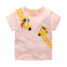 Baby Girls Clothes T shirt Cartoon Cute Animals Printed Summer Children Toddler Cotoon Top Tees