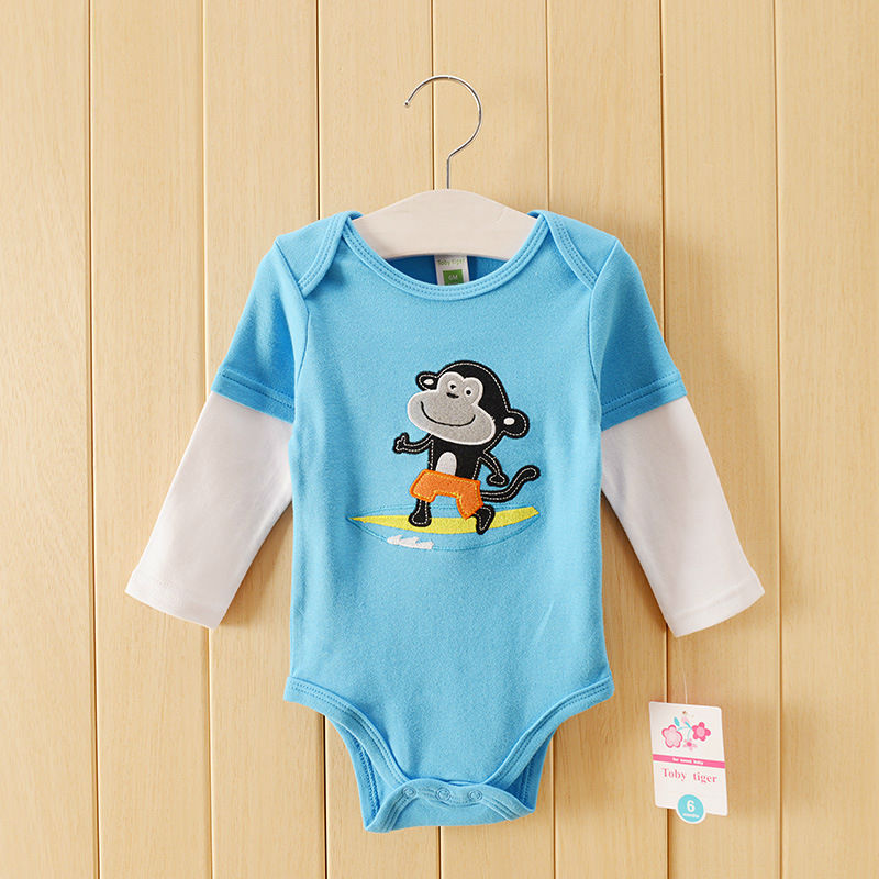 Newborn Baby Long Sleeve Triangle Pajamas Kids One-Piece Sleeping Clothes Cartoon Baby Boys Girls Summer Rompers Cotton 0-24M