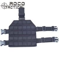 ROCOTACTICAL Cordura MOLLE Tactical Drop Leg Platform For Paintball Airsoft Pistol Holster Platform With Quick Release
