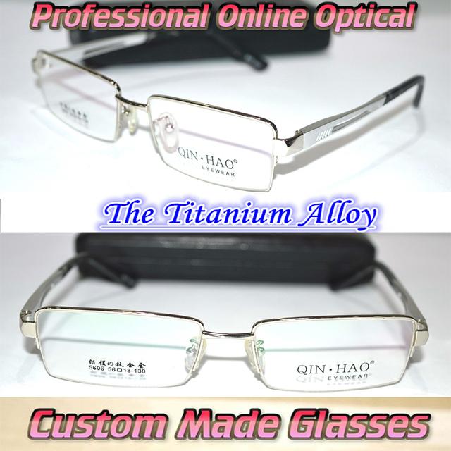 Por encargo gafas de lectura Mg al aleación de titanio semi rim plata + 0.5 + 0.75 + 1.25 + 1.75 + 2.25 + 2.75 + 3.25 + 3.75 + 4.25 + 6.0