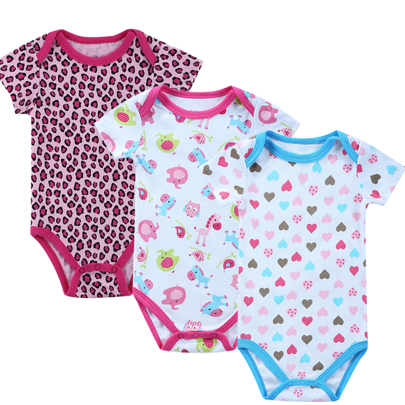 Baby Clothing! 2016 Summer Fashion Baby Boy Girl Newborn Clothes Bodysuit Short Sleeve Infant Product Baby Bodysuit Print Girl