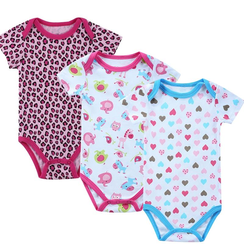 Baby Clothing! 2016 Summer Fashion Baby Boy Girl Newborn Clothes Bodysuit Short Sleeve Infant Product Baby Bodysuit Print Girl