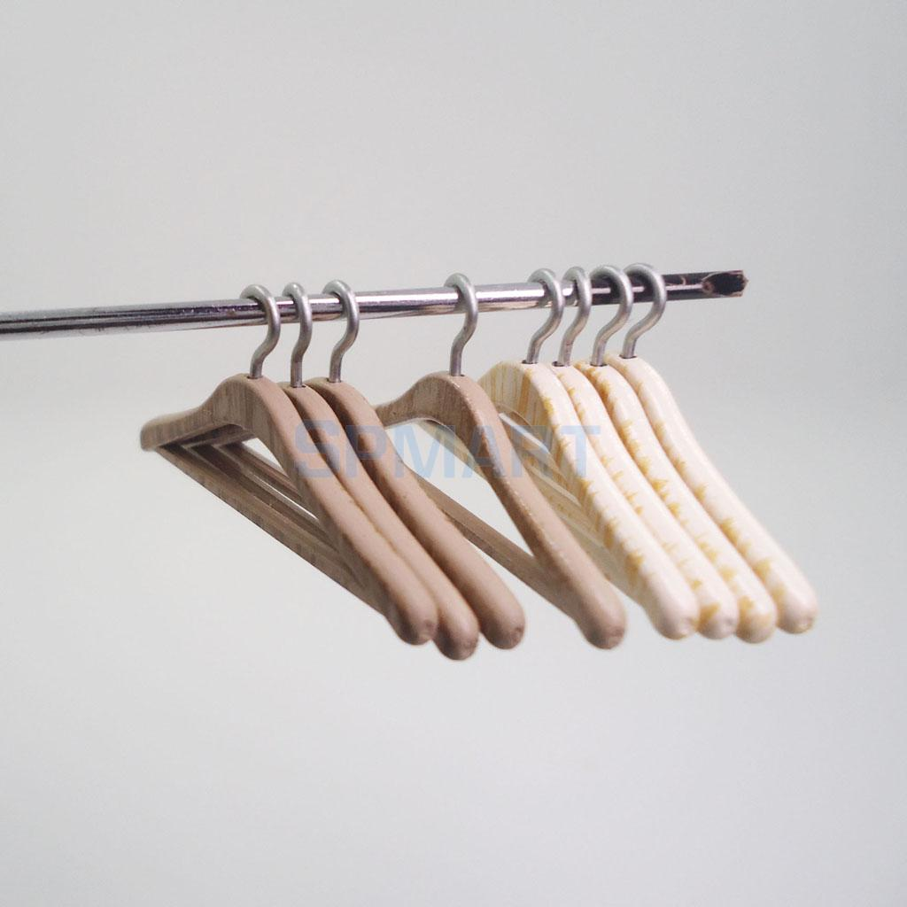 Pretend Play Toys & Hobbies Temperate 4pcs 1/12 Scale Dollhouse Miniature Furniture Mini Clothing Hangers Closet Wardrobe Hanging Decoration Dolls Accessories Quell Summer Thirst