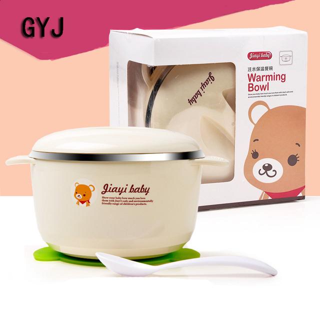 Tigela com tampa de alimentos bacias de alimentação do bebê 360 do bebê do aço inoxidável conjunto tigela pratos placa jogo de jantar do bebê miúdos dos desenhos animados jogo de jantar alimentação infantil