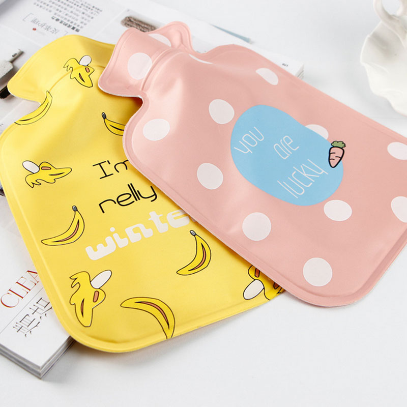 1 x Medium Kawaii fruit winter water type hot-water bottle Filled With Water Hot-water Bag Warm Hand Warmer Hand Po adnart flavour it glass water bottle with fruit infuser