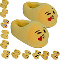 2pcs/pair Emoji Massage Slippers Cartoon Plush Home Relaxation Slippers Cute Style Fashion Winter House Indoor Massage Shoes
