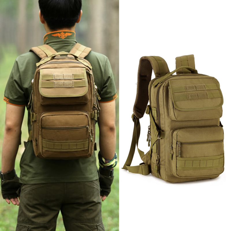 купить 25L Tactical Daypack Military Backpack Gear MOLLE School Bag Assault Pack Rucksack For Hunting Camping Trekking Travel 094 недорого