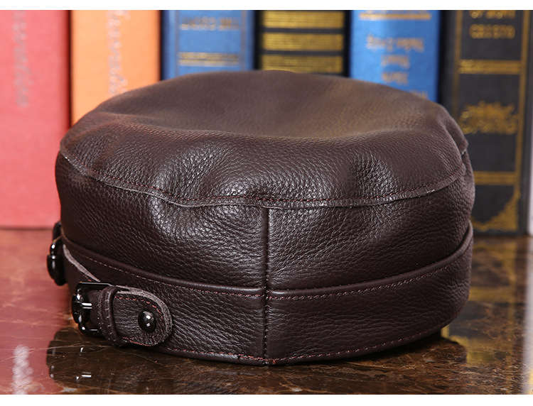 Outdoor natural leather cap (12)