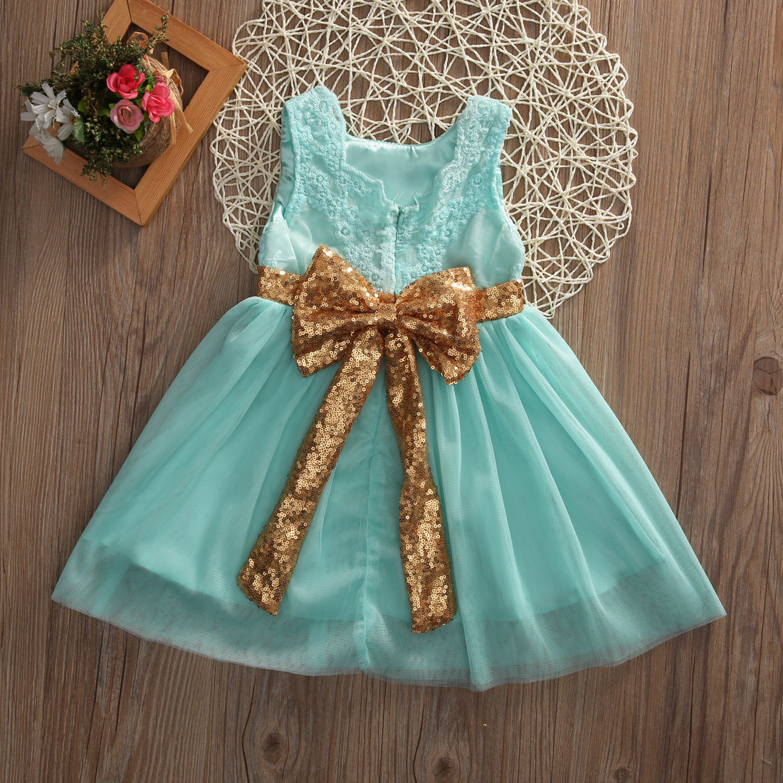 2017 new arrival Flower Princess Sequins Girl Dress Toddler Wedding Fancy Party Tutu Dresses 2-7years Kids girls clothes talent 32 мм
