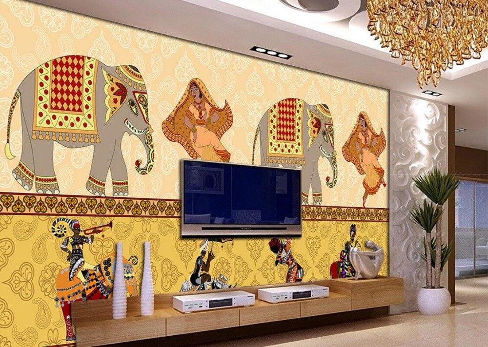 Custom Photo Silk 3d Wallpaper Of Wallpaper Living Room Dinning Room