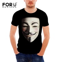 FORUDESIGNS 2018 V wie vendetta anonymous guy t shirts Herren Kurzarm mann T-shirt Homme Streetwea Hip Hop Casual Herren-oberteile T